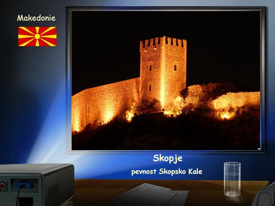 Makedonie Skopje pevnost Skopsko Kale