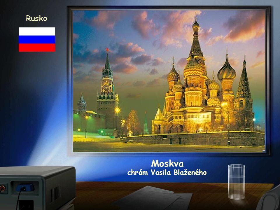 Moskva Rusko chrám Vasila Blaženého