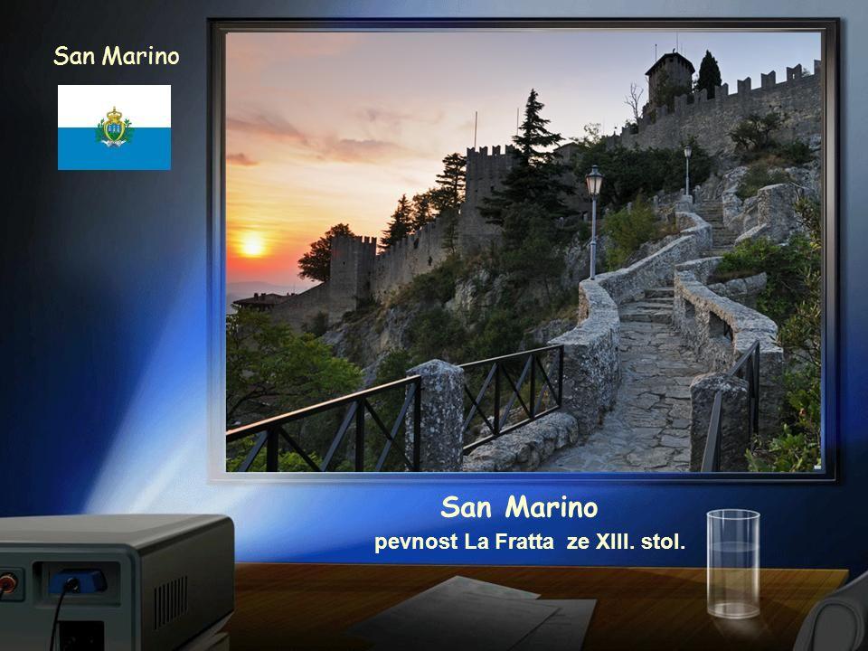 San Marino San Marino pevnost La Fratta ze XIII. stol.