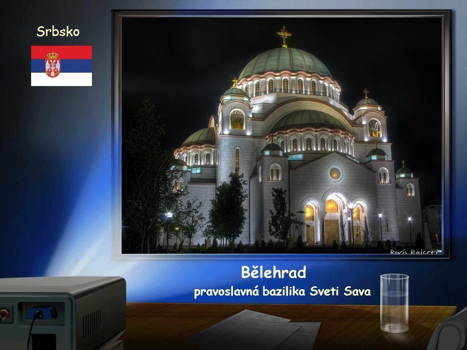 Srbsko Panorama Bělehrad pravoslavná bazilika Sveti Sava