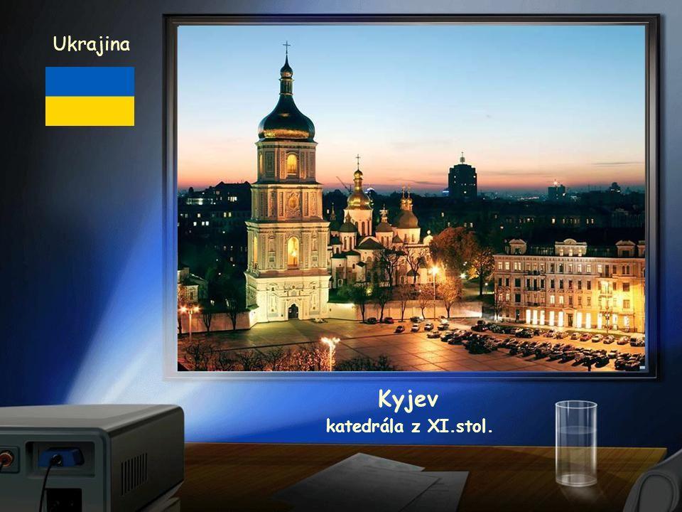 Ukrajina Kyjev katedrála z XI.stol.