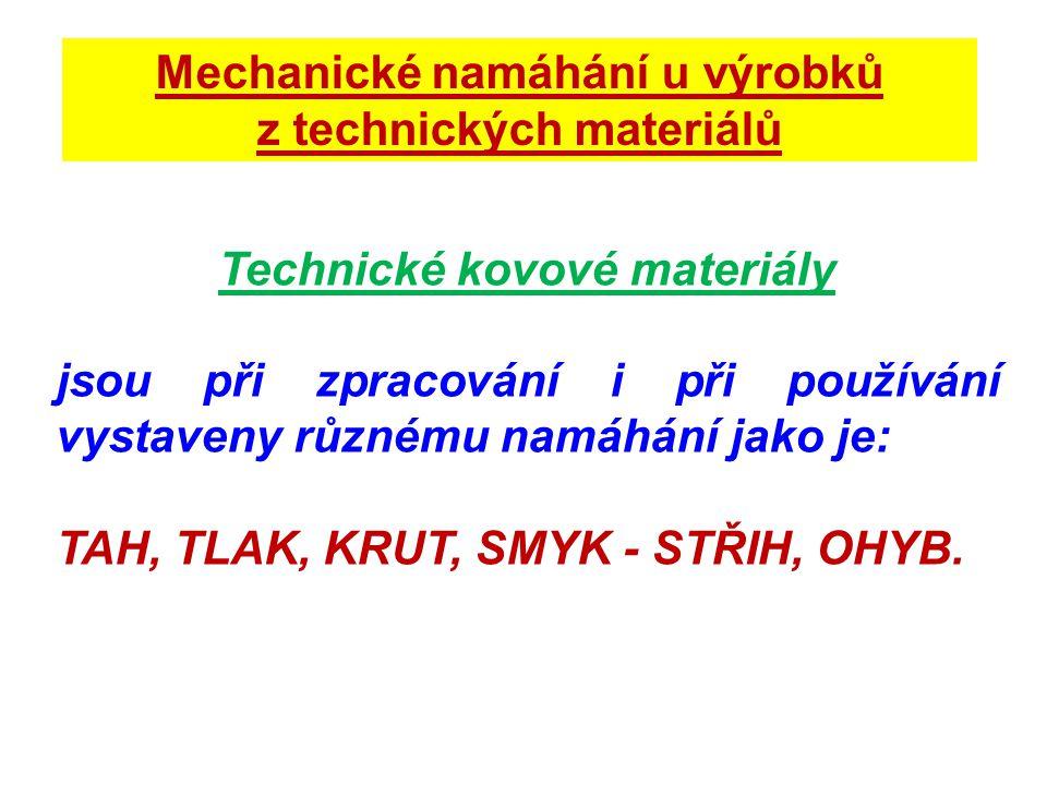 Mechanické namáhání u výrobků z technických materiálů
