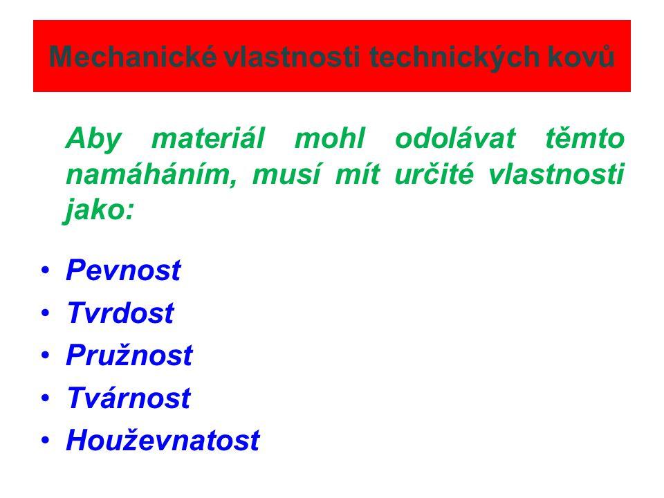 Mechanické vlastnosti technických kovů