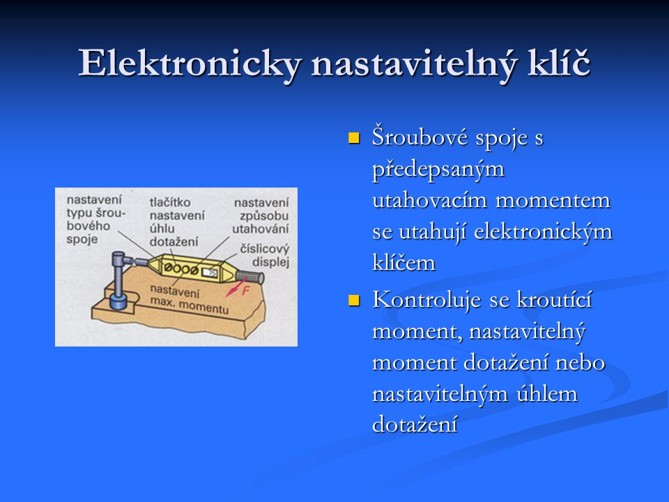 Elektronicky nastavitelný klíč