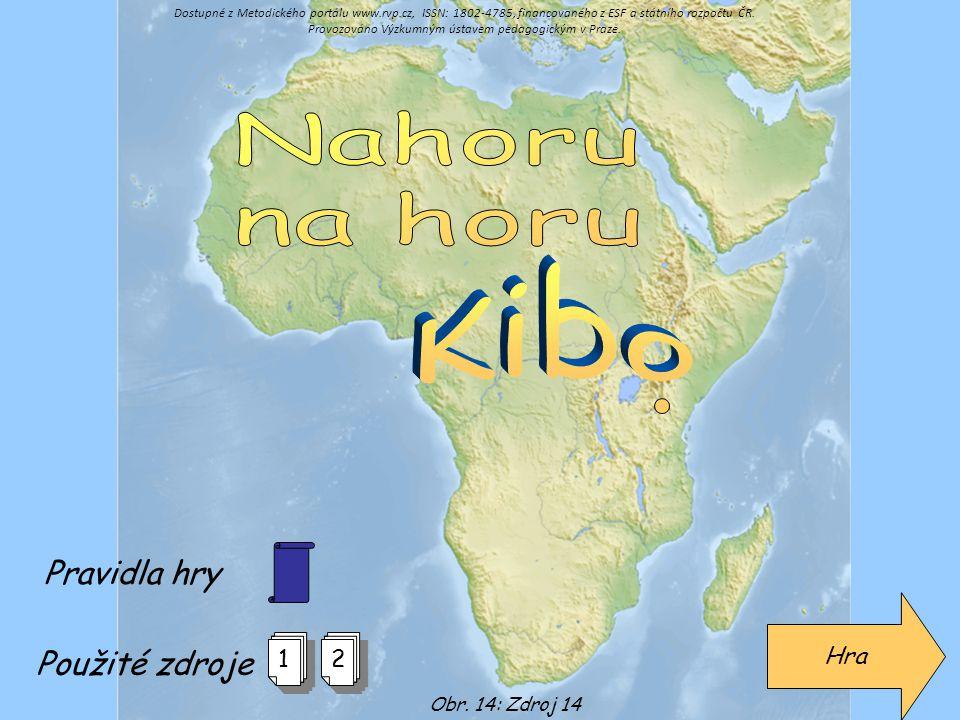 Nahoru na horu Kibo Pravidla hry Použité zdroje Hra 1 2
