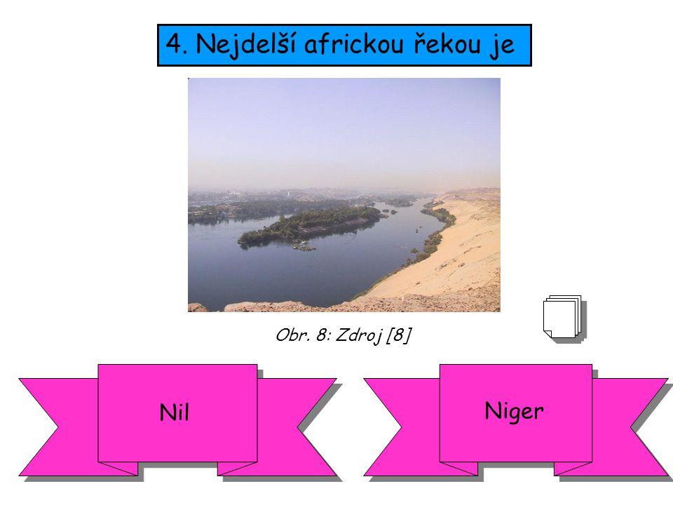 4. Nejdelší africkou řekou je