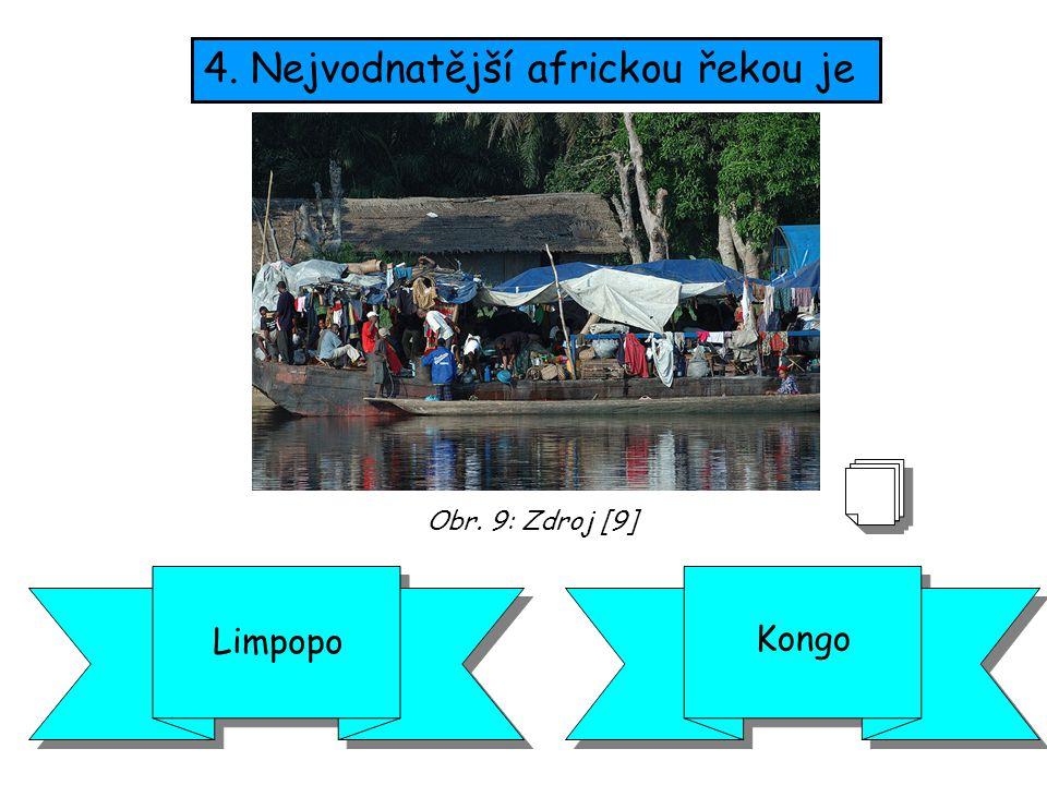 4. Nejvodnatější africkou řekou je
