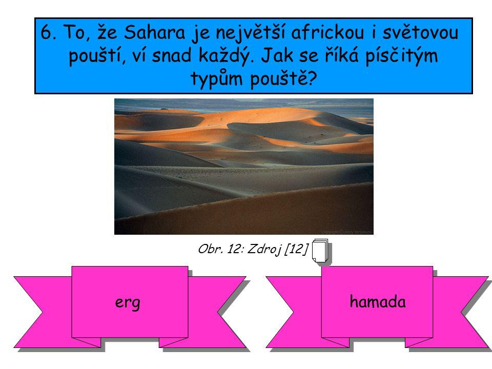 6. To, že Sahara je největší africkou i světovou