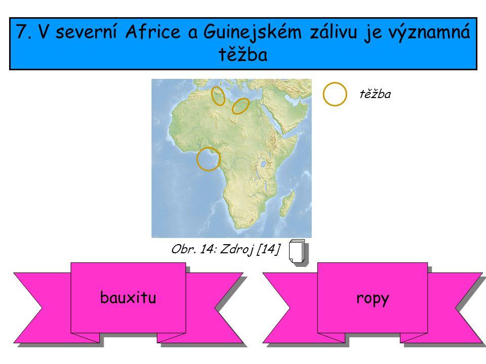 7. V severní Africe a Guinejském zálivu je významná