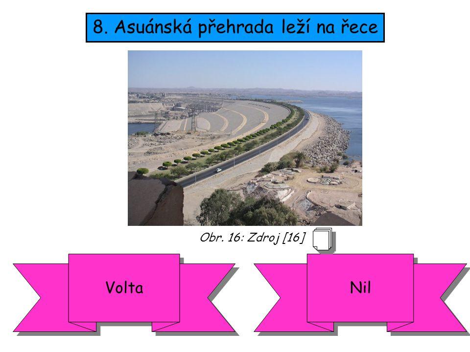 8. Asuánská přehrada leží na řece