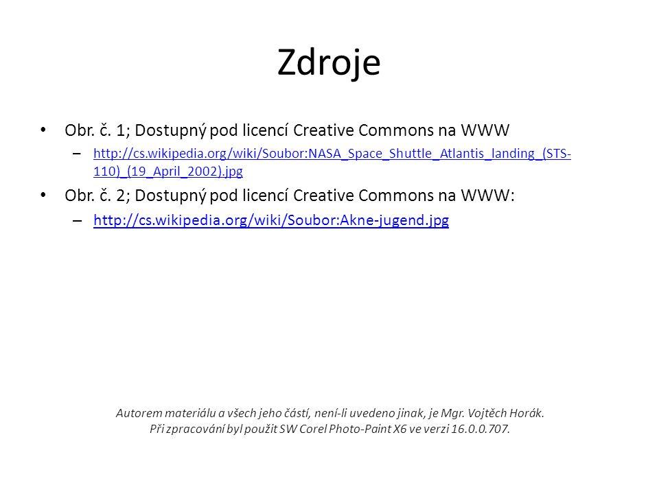 Zdroje Obr. č. 1; Dostupný pod licencí Creative Commons na WWW
