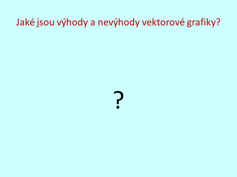 Jaké jsou výhody a nevýhody vektorové grafiky