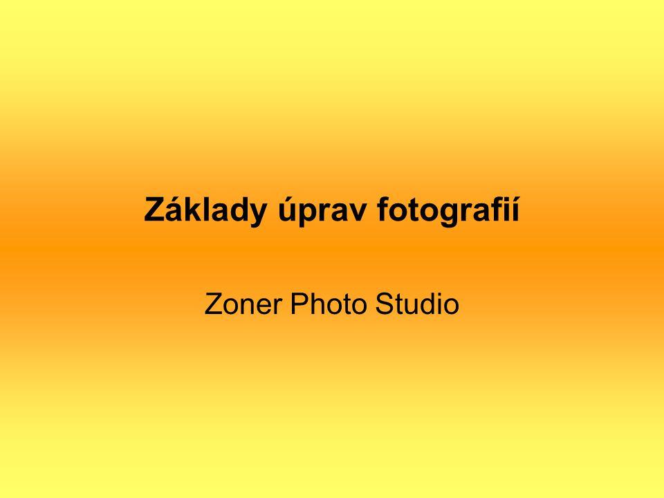 Základy úprav fotografií