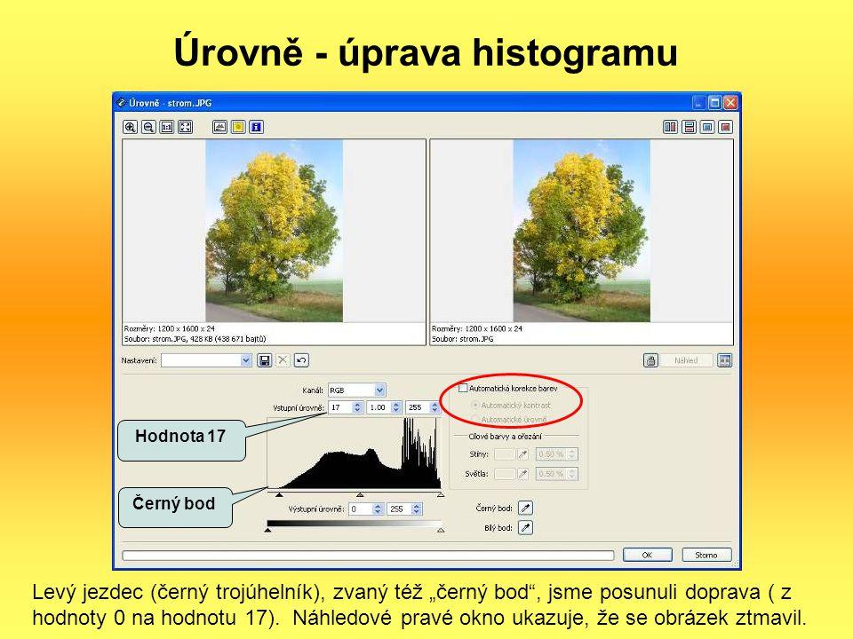 Úrovně - úprava histogramu