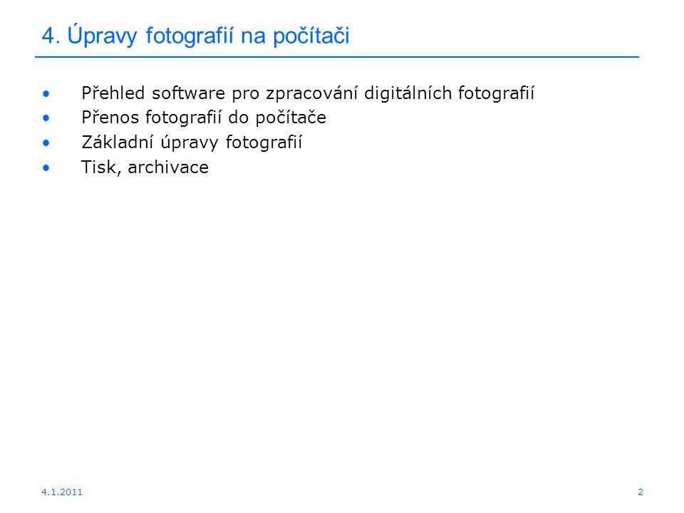 4. Úpravy fotografií na počítači