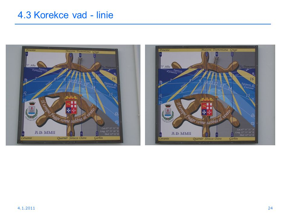 4.3 Korekce vad - linie 4.1.2011
