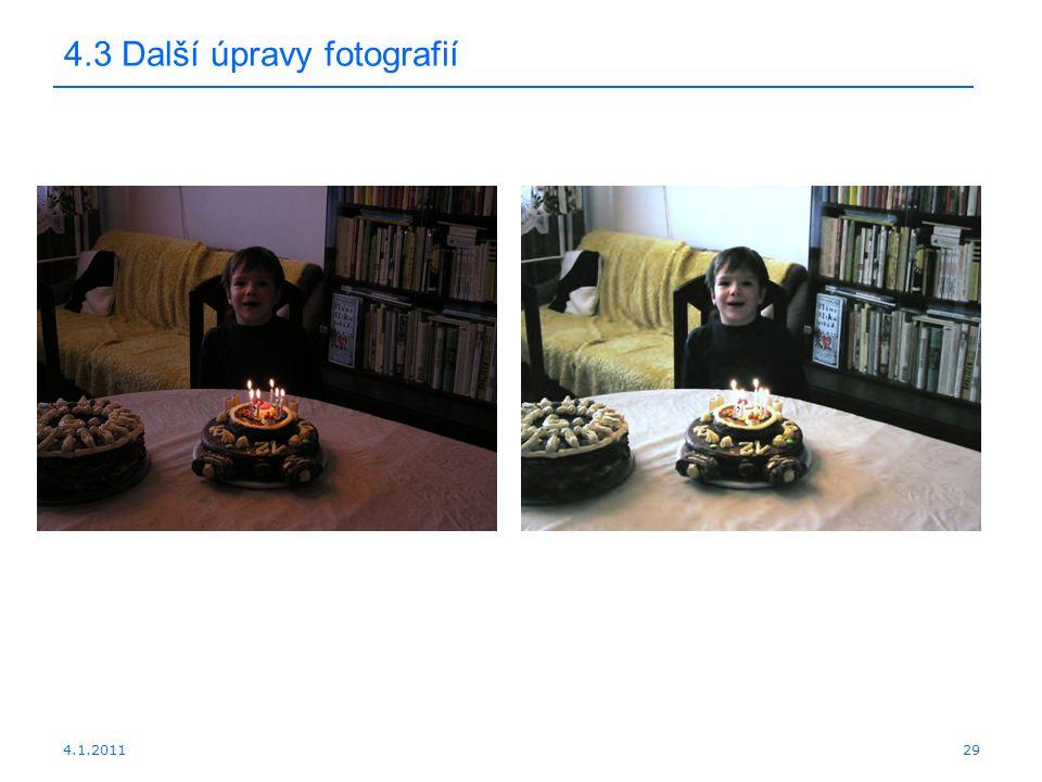 4.3 Další úpravy fotografií