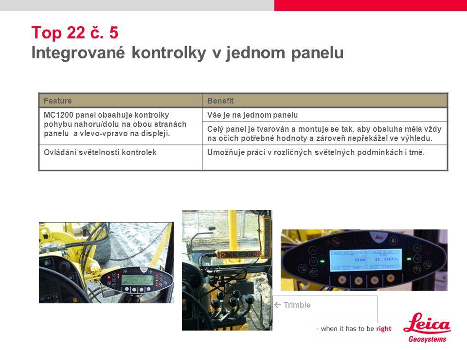 Top 22 č. 5 Integrované kontrolky v jednom panelu