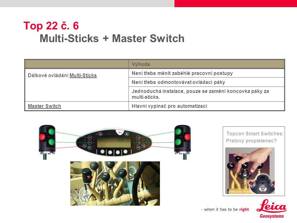 Top 22 č. 6 Multi-Sticks + Master Switch