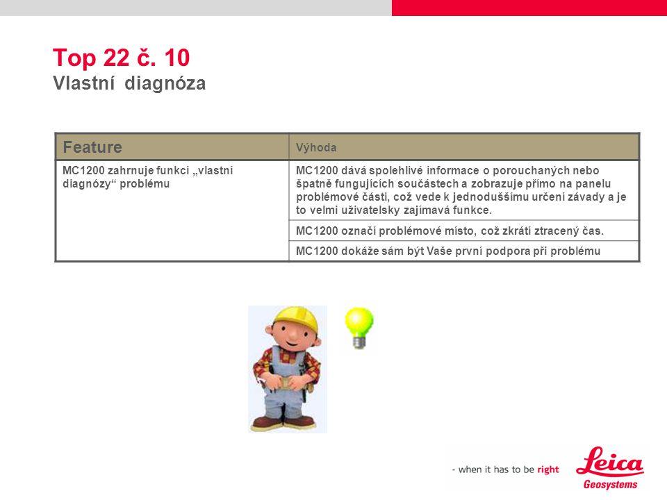 Top 22 č. 10 Vlastní diagnóza Feature Výhoda