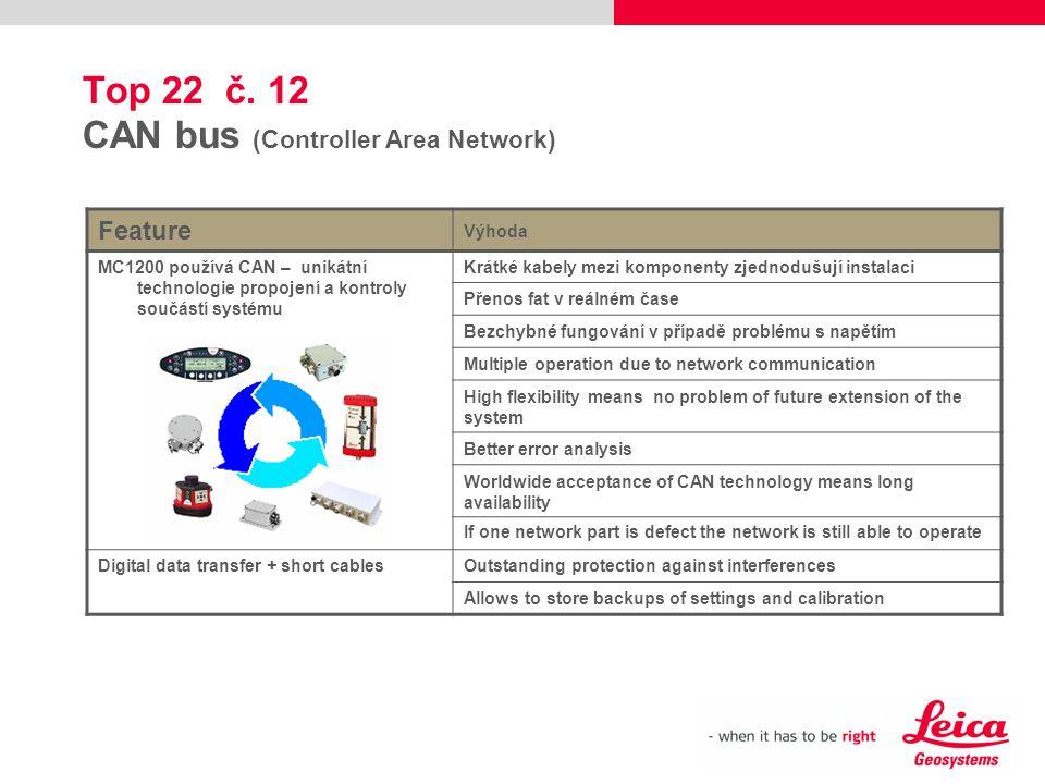 Top 22 č. 12 CAN bus (Controller Area Network)