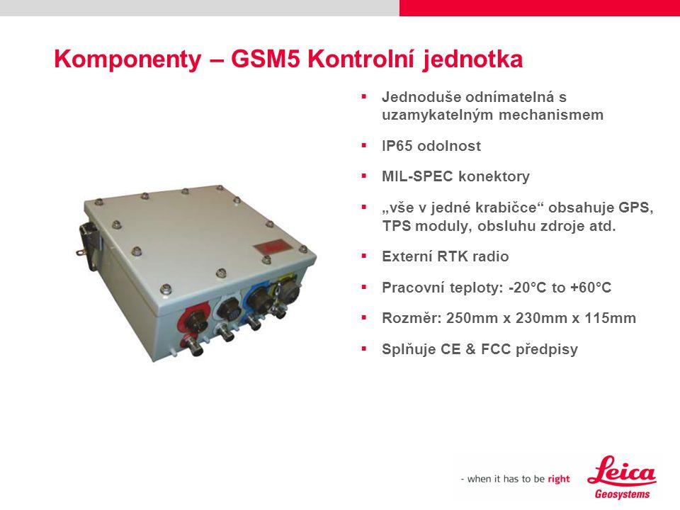 Komponenty – GSM5 Kontrolní jednotka
