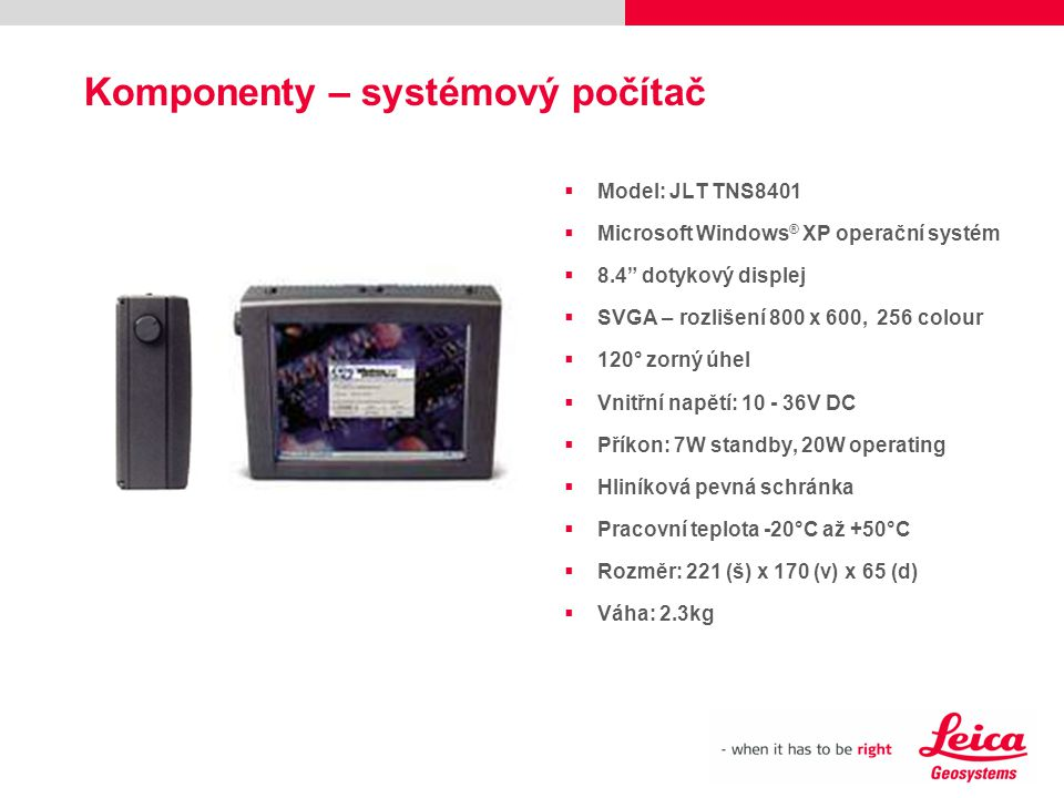 Komponenty – systémový počítač