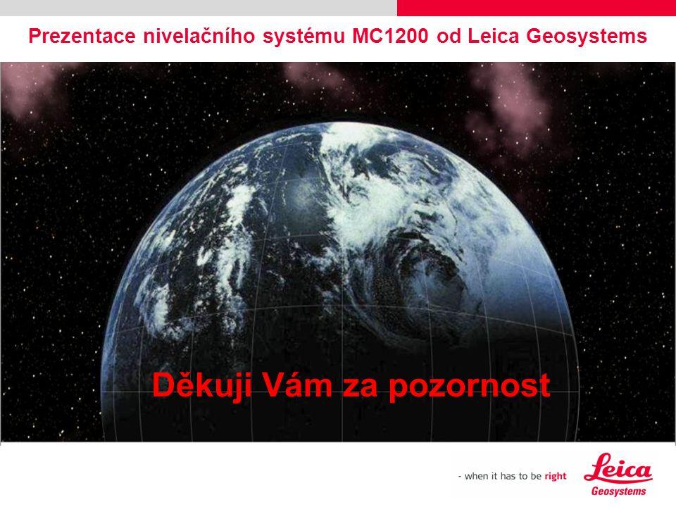 Prezentace nivelačního systému MC1200 od Leica Geosystems