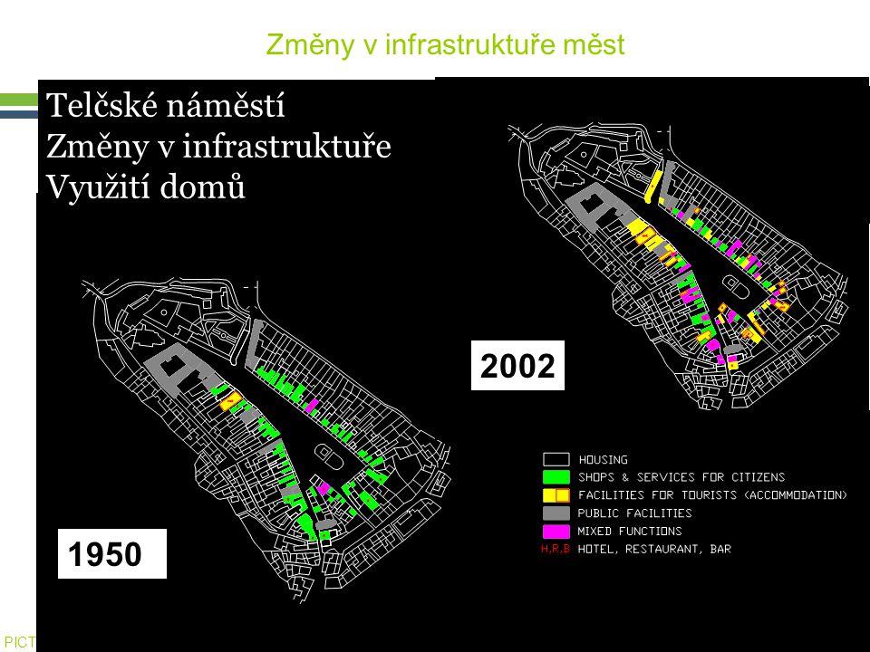 Změny v infrastruktuře měst