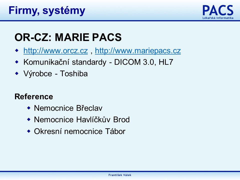 Firmy, systémy OR-CZ: MARIE PACS