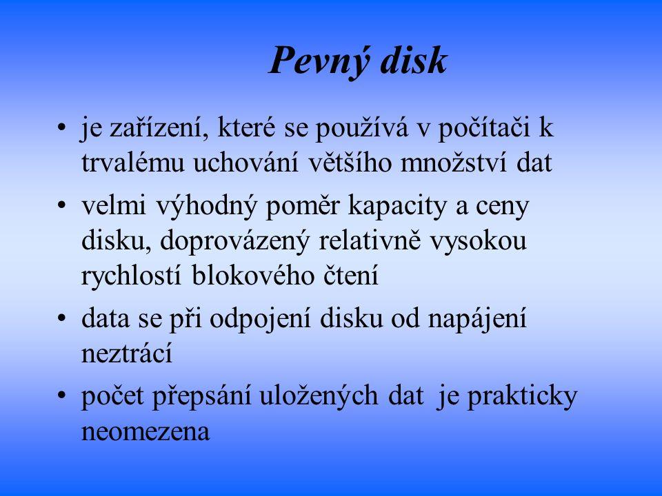 Pevný disk je zařízení, které se používá v počítači k trvalému uchování většího množství dat.