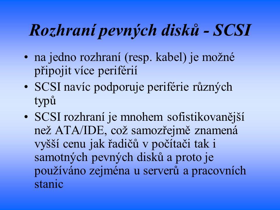 Rozhraní pevných disků - SCSI