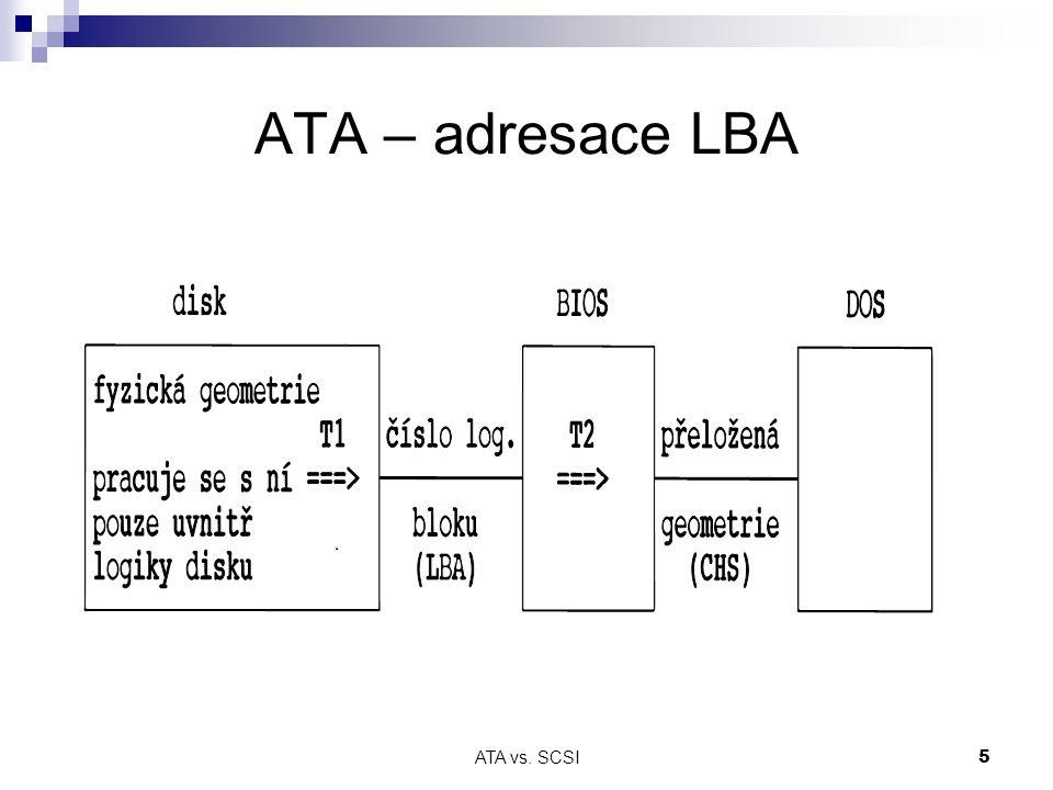 ATA – adresace LBA ATA vs. SCSI