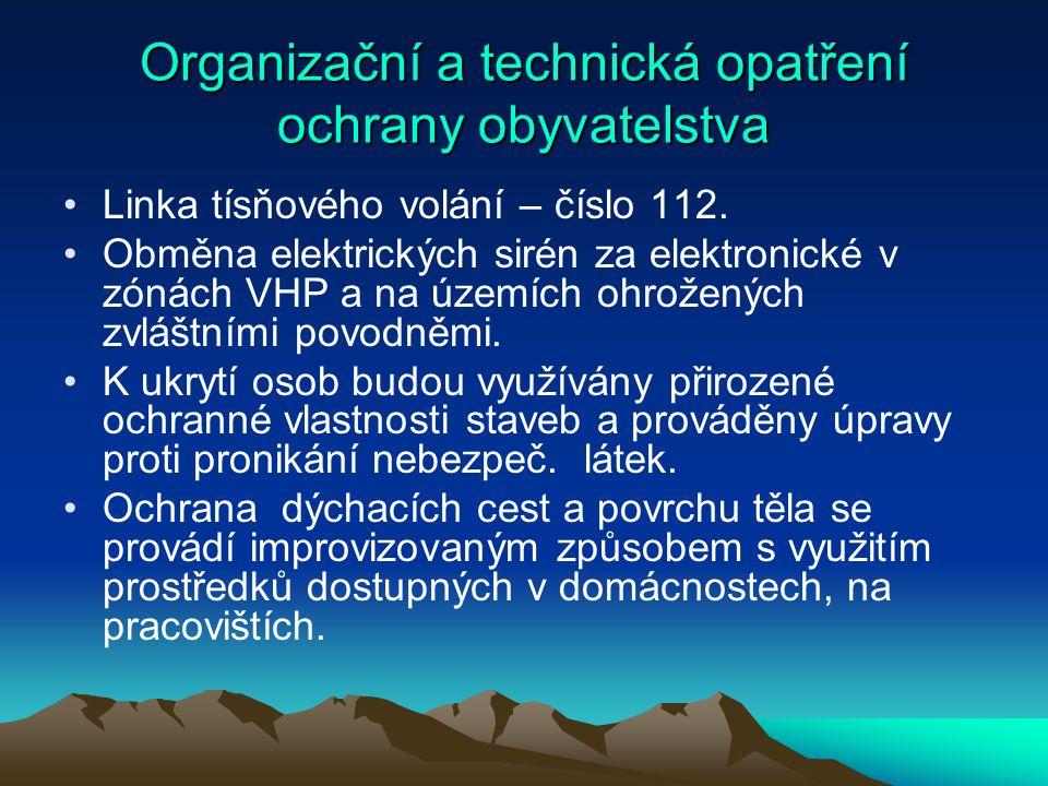 Organizační a technická opatření ochrany obyvatelstva