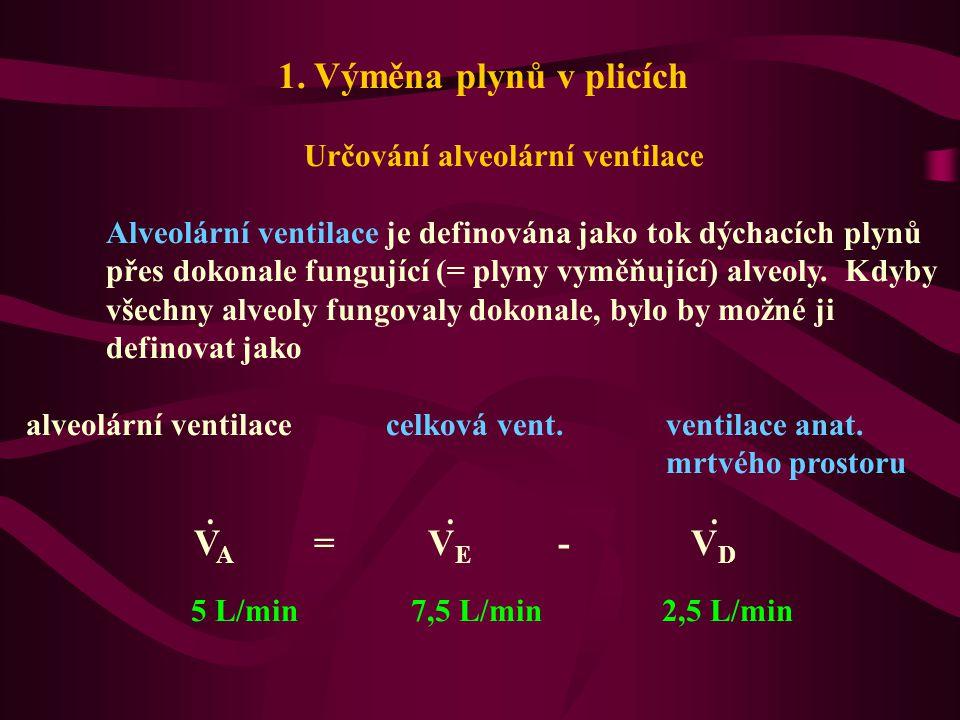 Určování alveolární ventilace