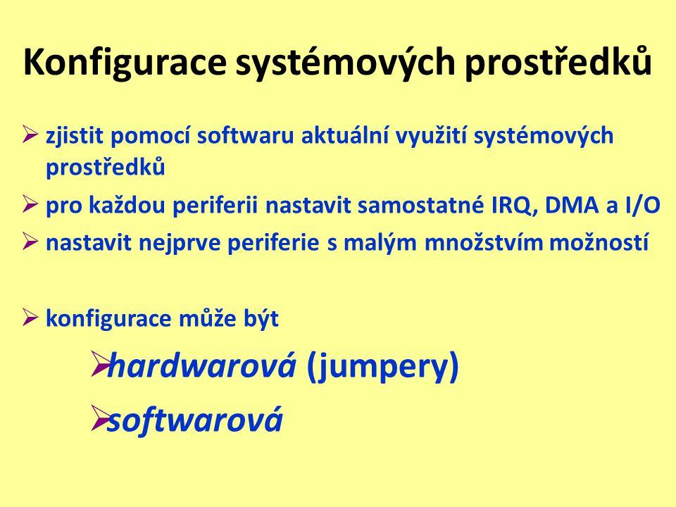 Konfigurace systémových prostředků