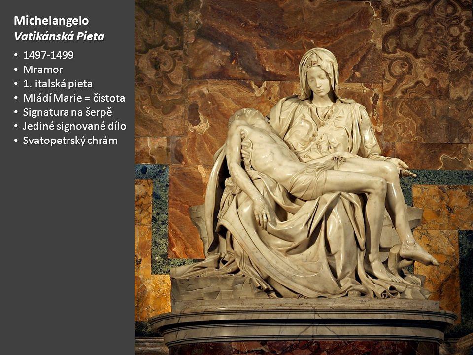 Michelangelo Vatikánská Pieta 1497-1499 Mramor 1. italská pieta