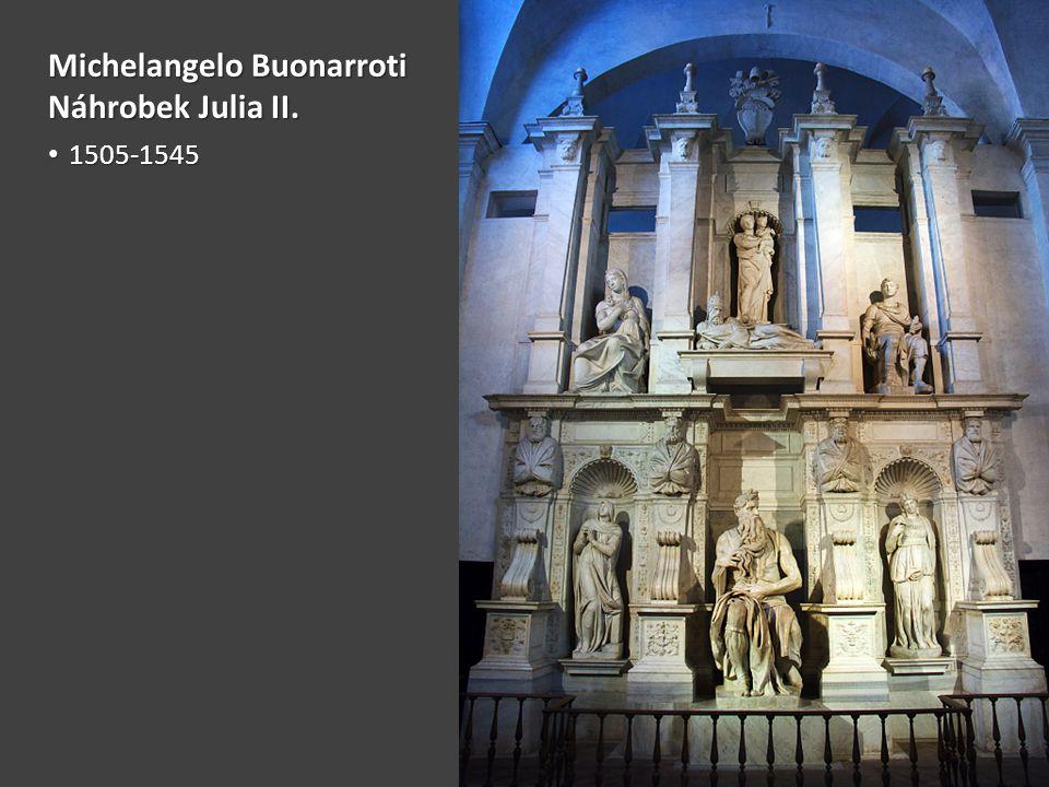 Michelangelo Buonarroti Náhrobek Julia II.