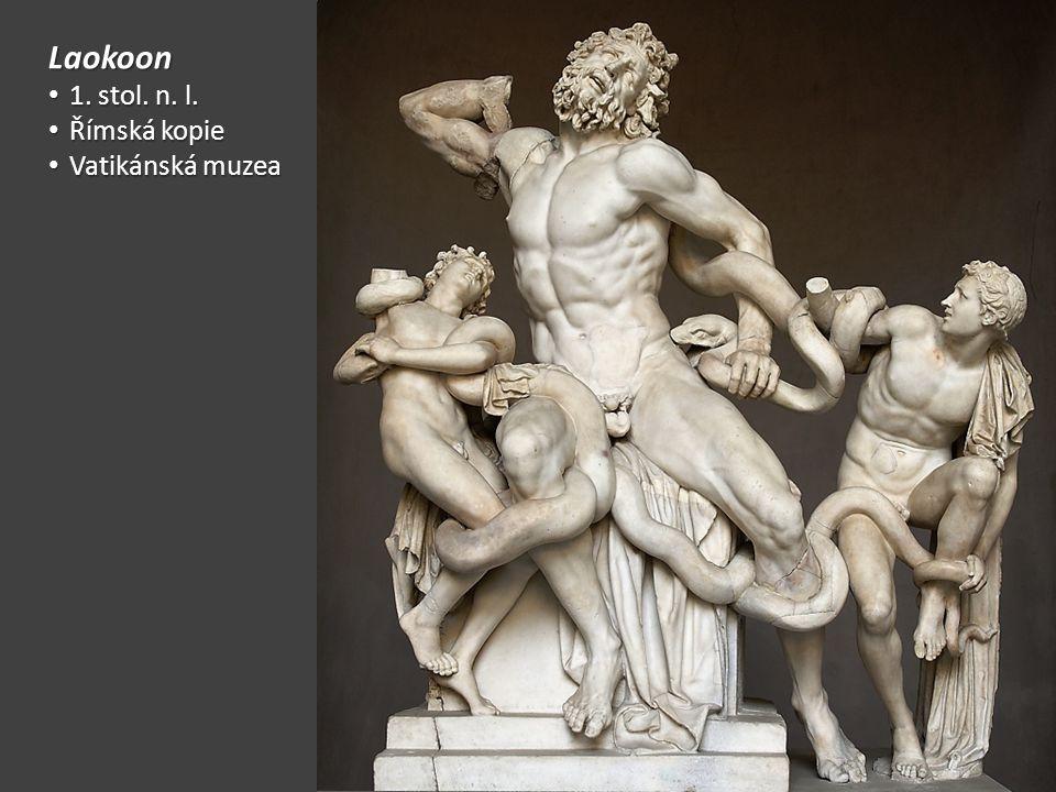 Laokoon 1. stol. n. l. Římská kopie Vatikánská muzea