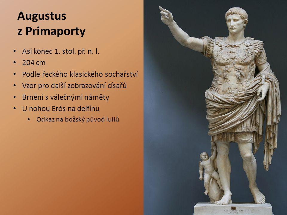 Augustus z Primaporty Asi konec 1. stol. př. n. l. 204 cm