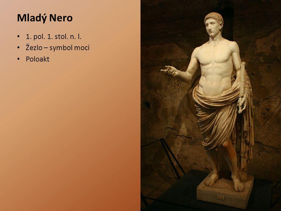 Mladý Nero 1. pol. 1. stol. n. l. Žezlo – symbol moci Poloakt