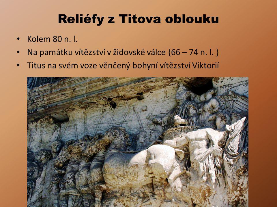 Reliéfy z Titova oblouku