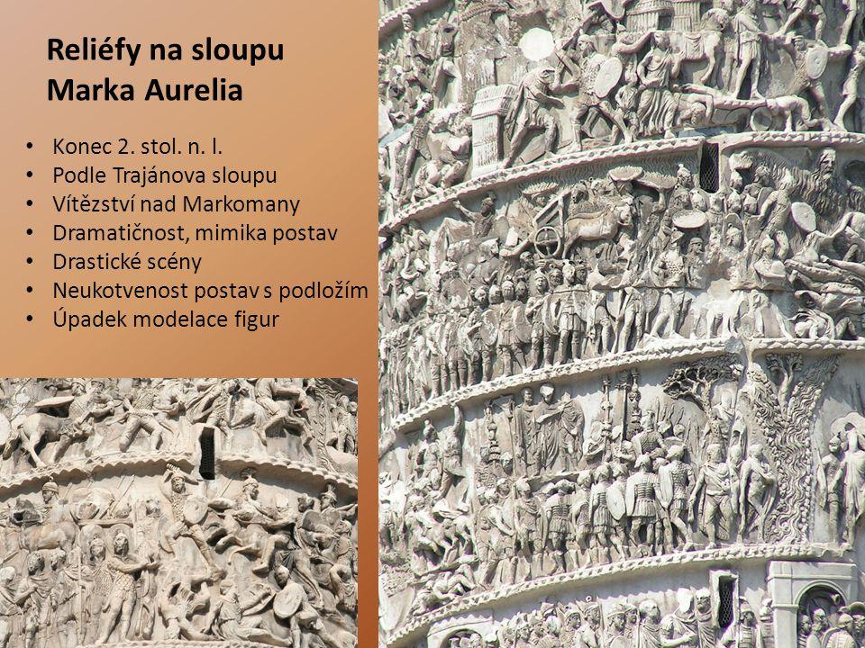 Reliéfy na sloupu Marka Aurelia
