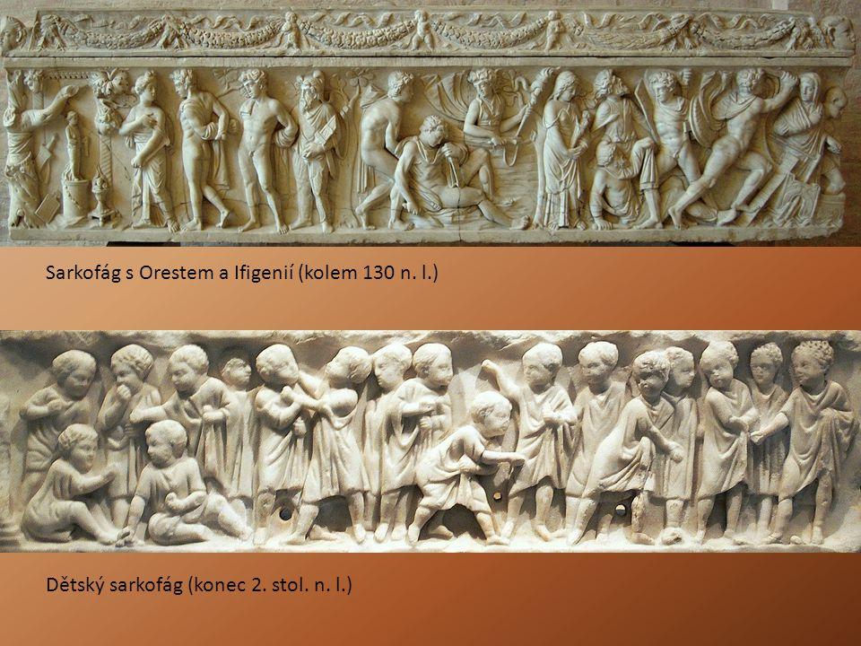 Sarkofág s Orestem a Ifigenií (kolem 130 n. l.)