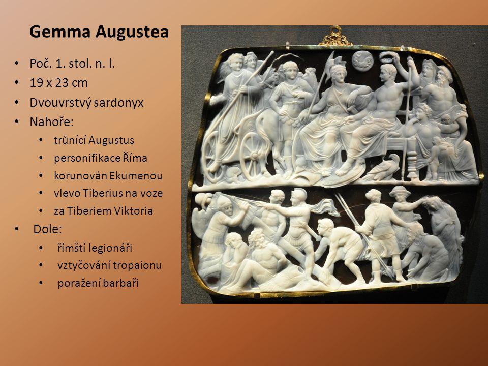 Gemma Augustea Poč. 1. stol. n. l. 19 x 23 cm Dvouvrstvý sardonyx