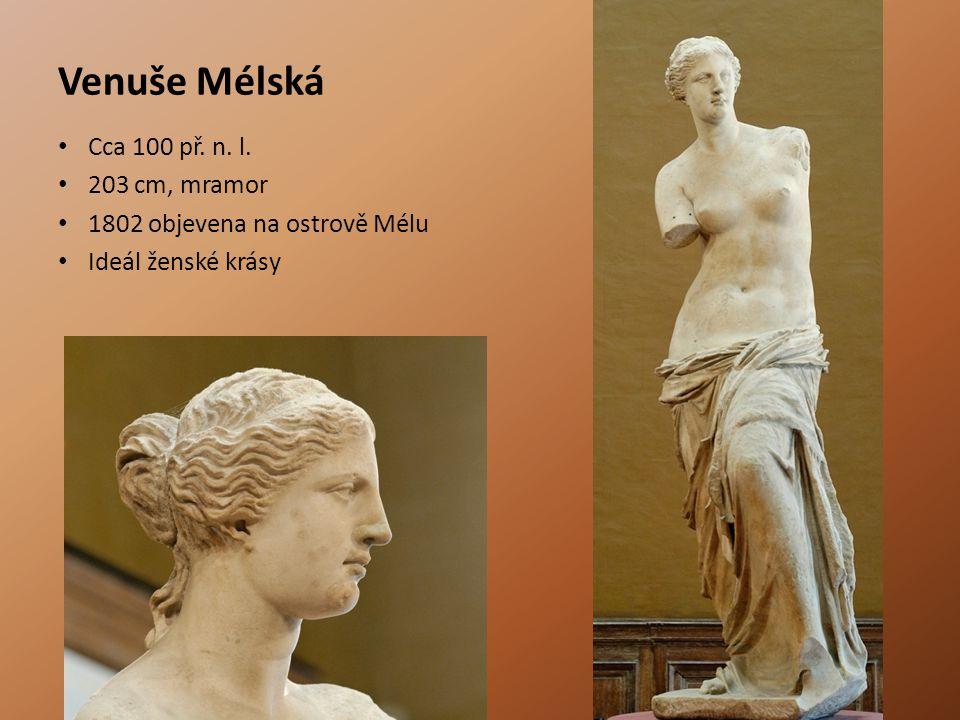 Venuše Mélská Cca 100 př. n. l. 203 cm, mramor