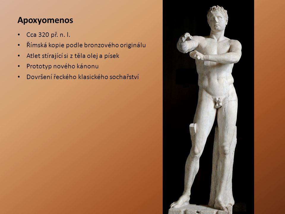 Apoxyomenos Cca 320 př. n. l. Římská kopie podle bronzového originálu