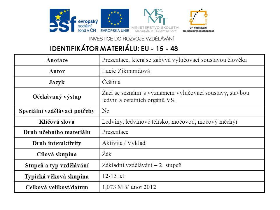 Identifikátor materiálu: EU - 15 - 48