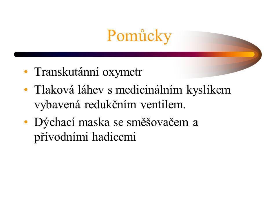 Pomůcky Transkutánní oxymetr