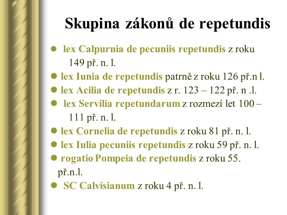 Skupina zákonů de repetundis